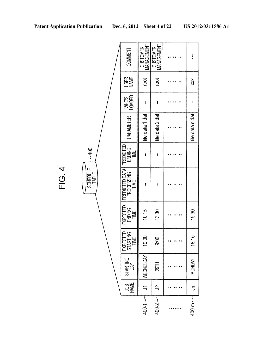 APPARATUS AND METHOD FOR PREDICTING A PROCESSING TIME OF A COMPUTER - diagram, schematic, and image 05
