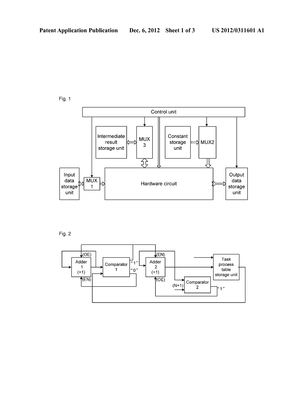 Method and apparatus for implementing task-process-table based hardware     control - diagram, schematic, and image 02