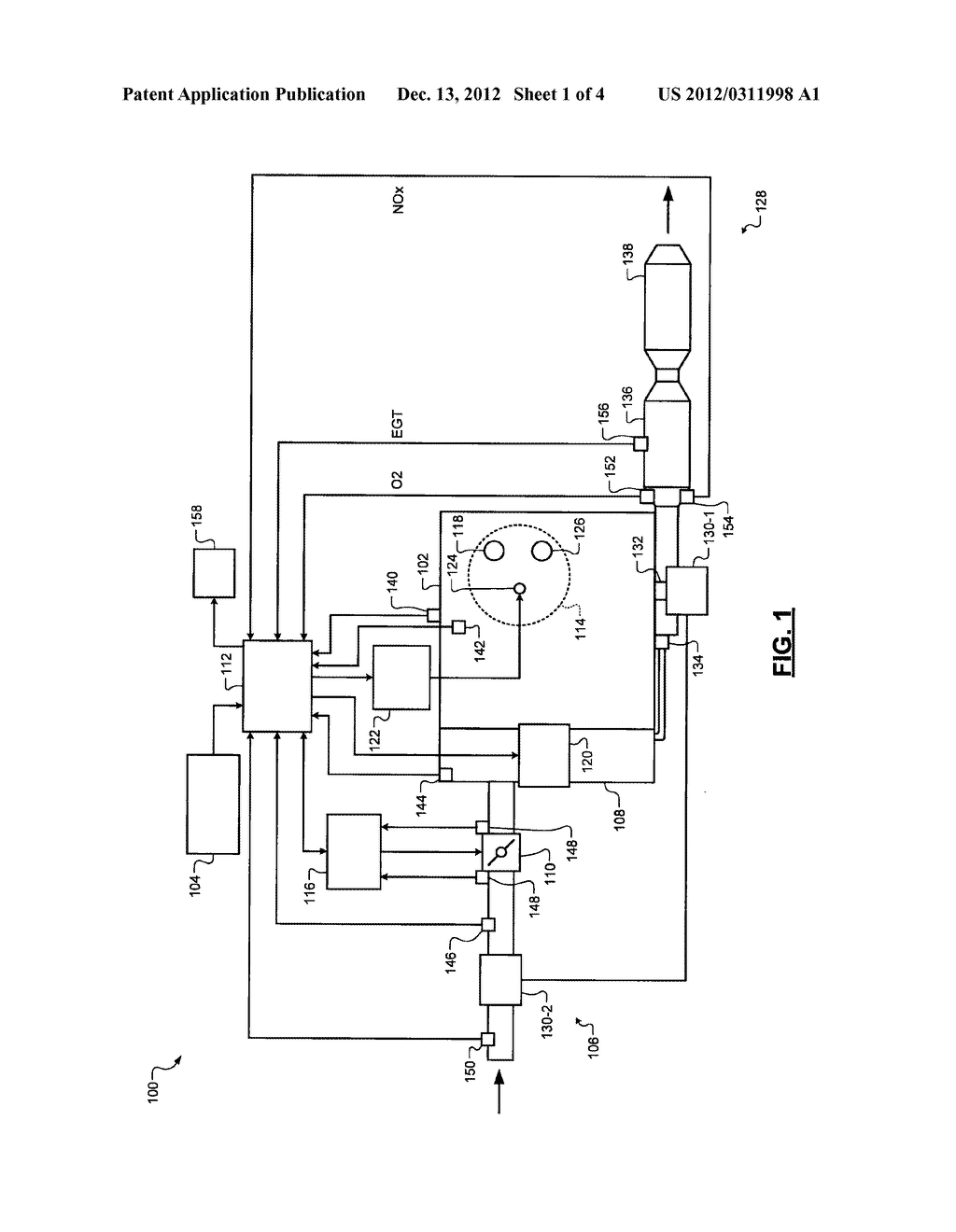 SYSTEM AND METHOD FOR DETERMINING AN AMMONIA GENERATION RATE IN A     THREE-WAY CATALYST - diagram, schematic, and image 02