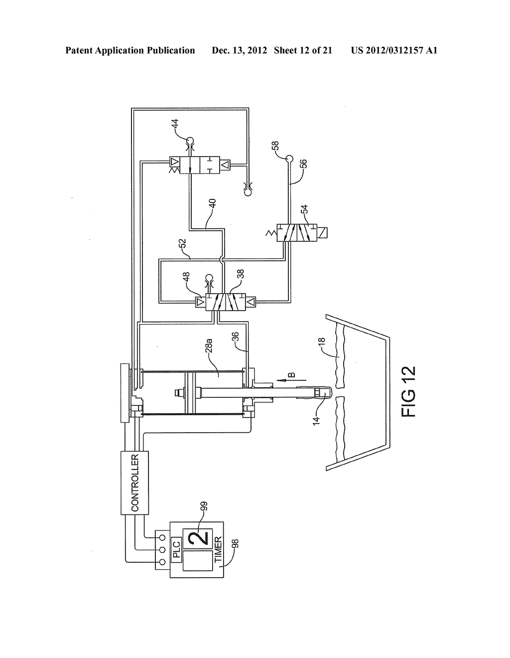 PNEUMATIC SYSTEM FOR CONTROLLING ALUMINUM BATH CRUST BREAKER - diagram, schematic, and image 13