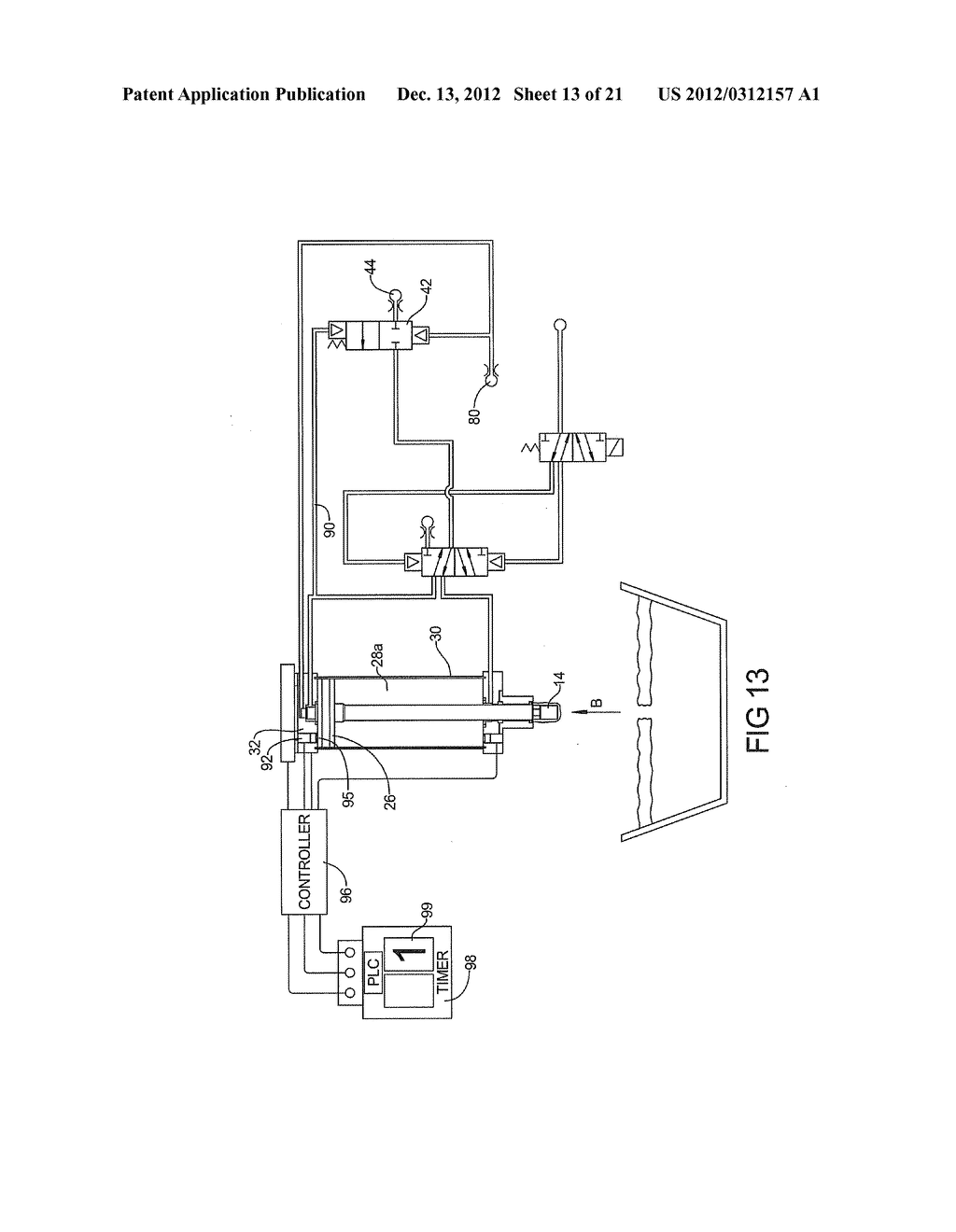 PNEUMATIC SYSTEM FOR CONTROLLING ALUMINUM BATH CRUST BREAKER - diagram, schematic, and image 14