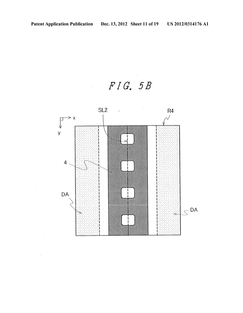 DISPLAY DEVICE WITH SUFFICIENT ADHESIVE STRENGTH FOR SEALING MATERIAL - diagram, schematic, and image 12