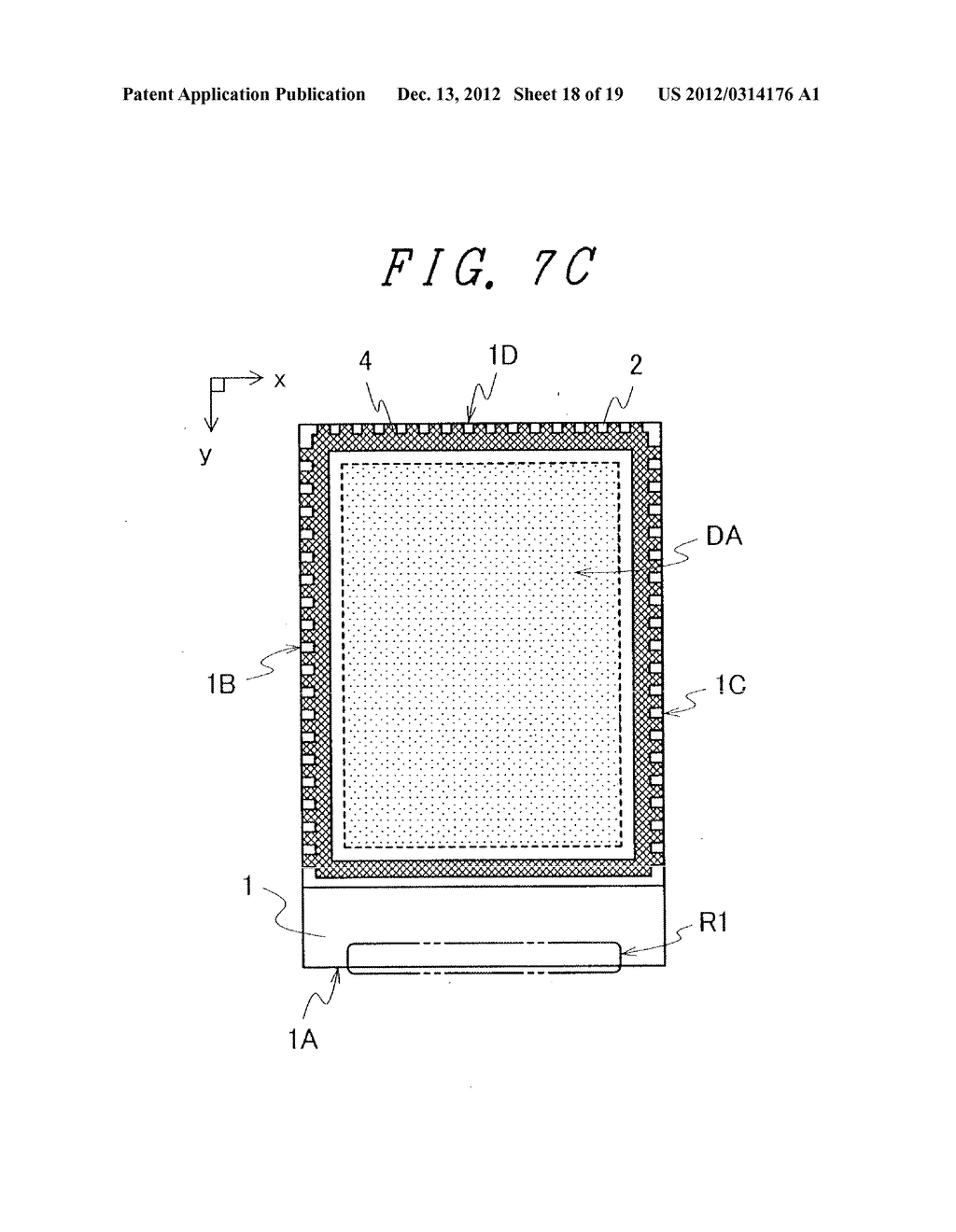 DISPLAY DEVICE WITH SUFFICIENT ADHESIVE STRENGTH FOR SEALING MATERIAL - diagram, schematic, and image 19
