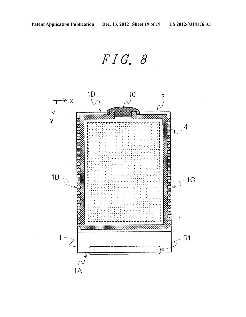 DISPLAY DEVICE WITH SUFFICIENT ADHESIVE STRENGTH FOR SEALING MATERIAL - diagram, schematic, and image 20