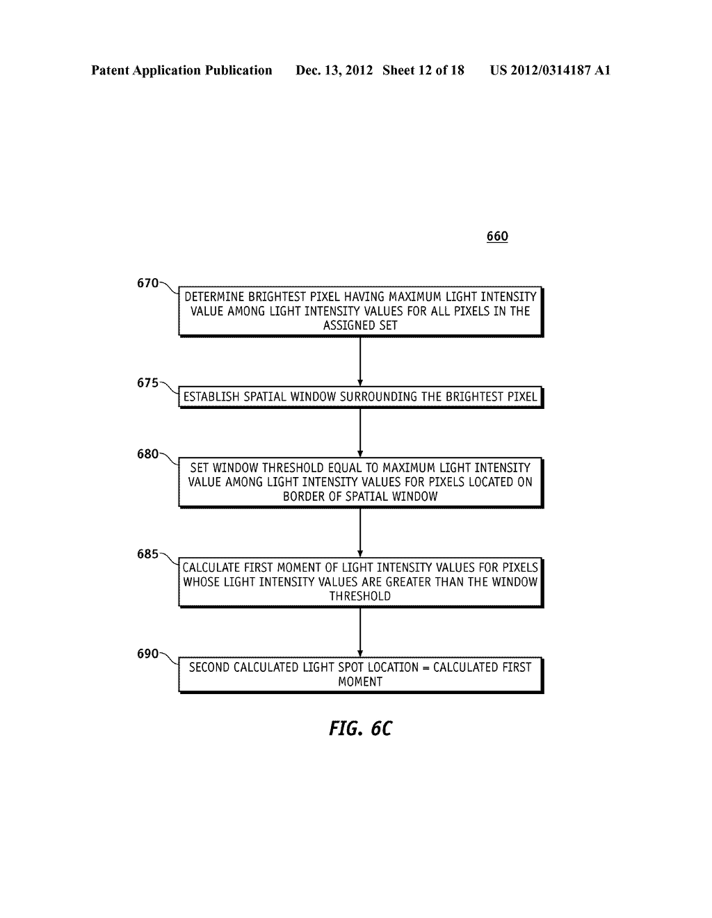 METHOD OF LOCATING VALID LIGHT SPOTS FOR OPTICAL MEASUREMENT AND OPTICAL     MEASUREMENT INSTRUMENT EMPLOYING METHOD OF LOCATING VALID LIGHT SPOTS - diagram, schematic, and image 13