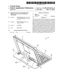 Holding device integrated with protective cover and wireless keyboard diagram and image
