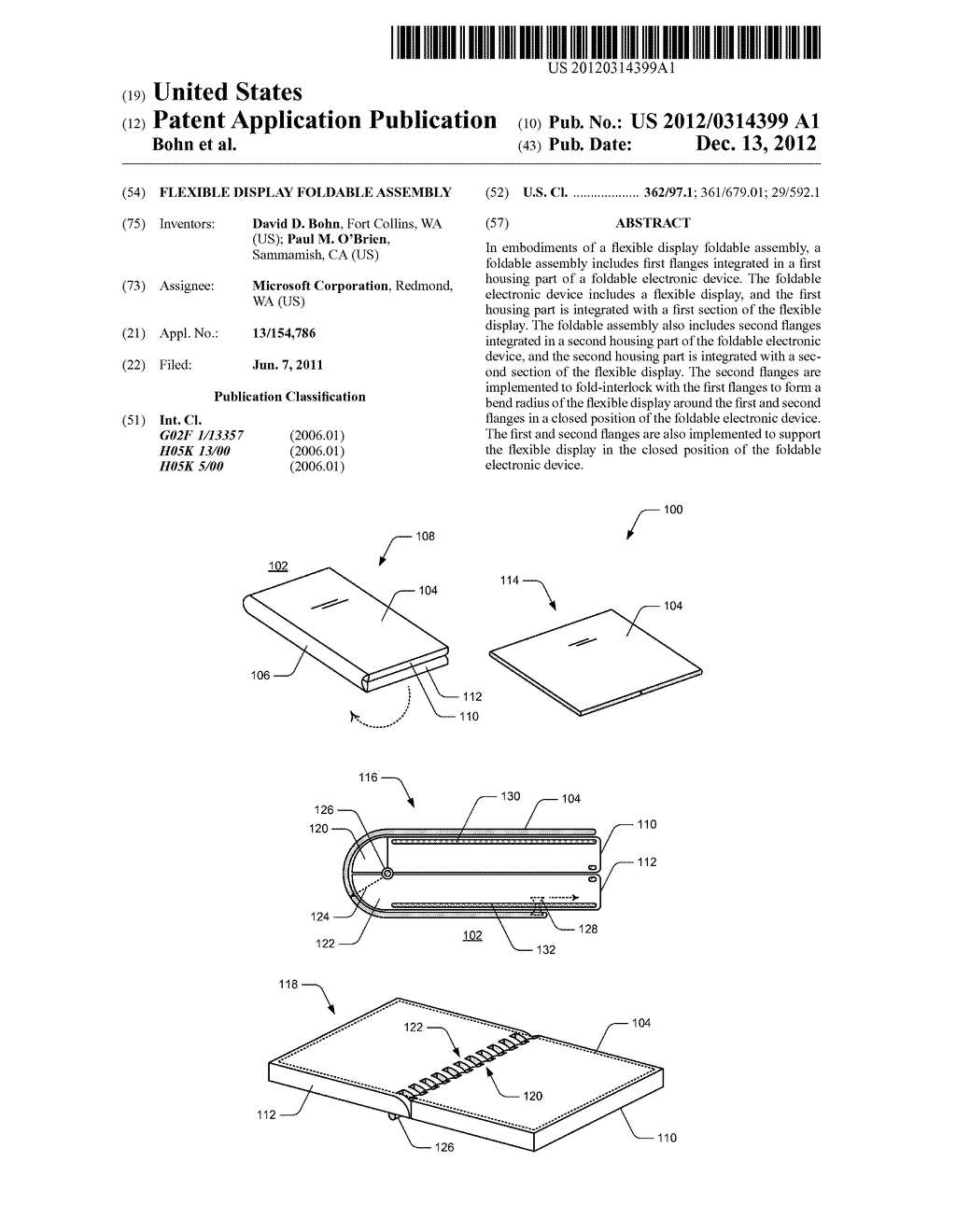 FLEXIBLE DISPLAY FOLDABLE ASSEMBLY - diagram, schematic, and image 01
