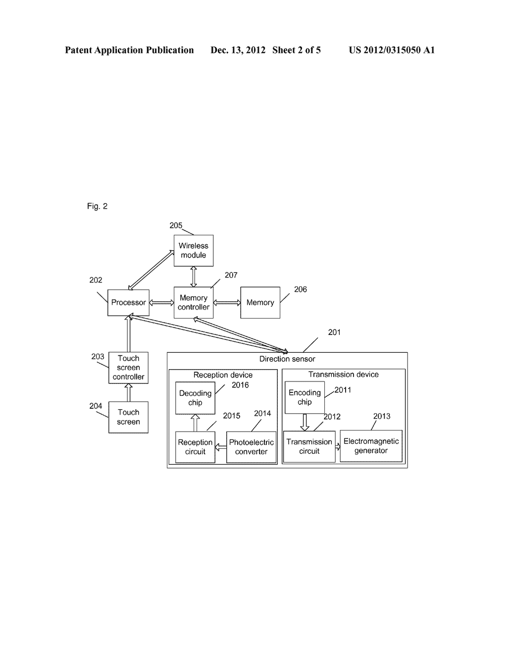 Device, equipment and method for data transmission by touch - diagram, schematic, and image 03