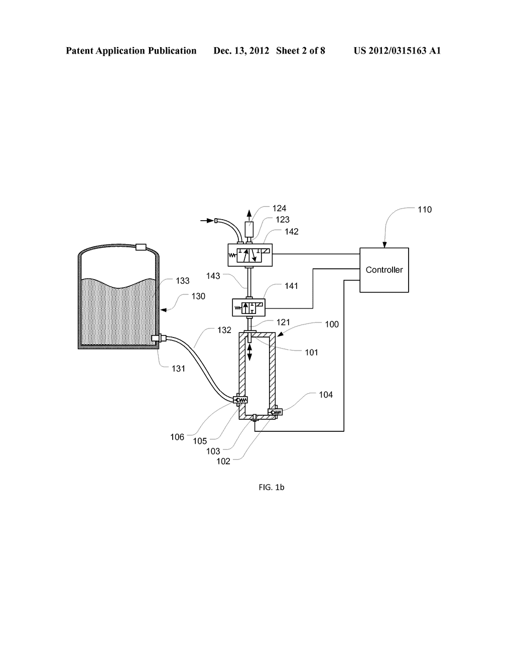 Air-driven hydraulic pump with pressure control - diagram, schematic, and  image 03