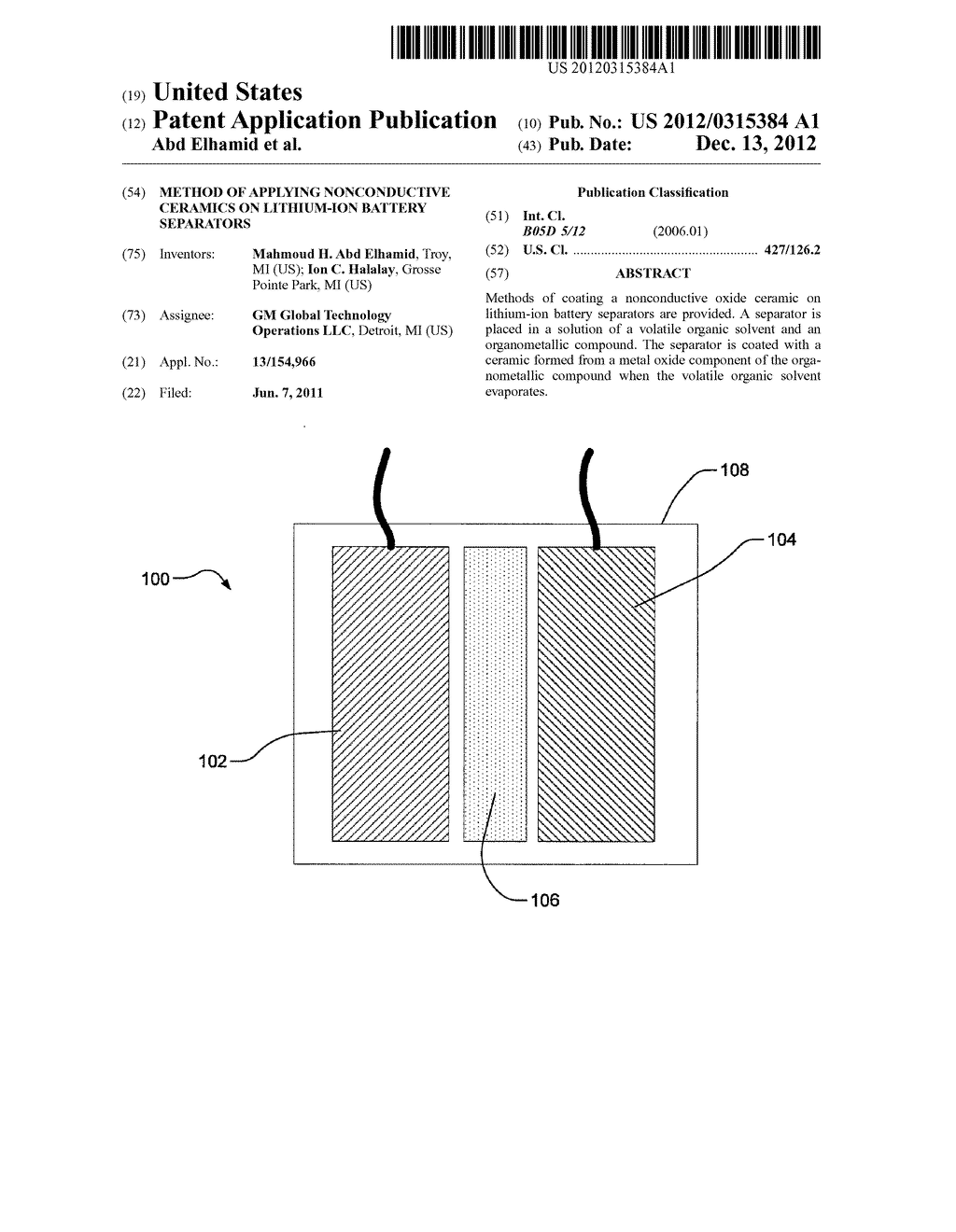 METHOD OF APPLYING NONCONDUCTIVE CERAMICS ON LITHIUM-ION BATTERY     SEPARATORS - diagram, schematic, and image 01