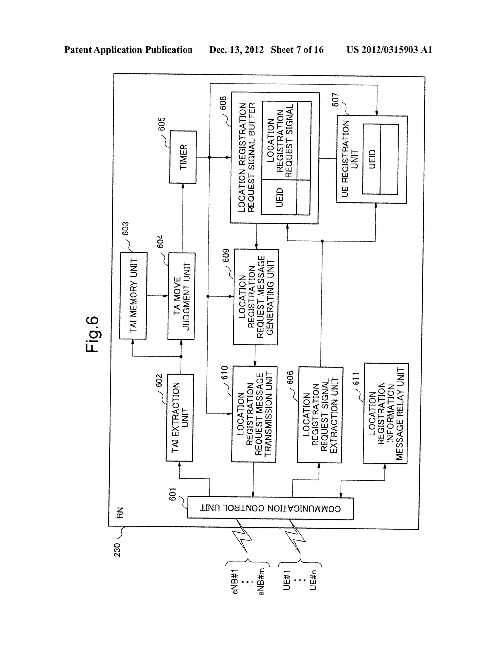 MOBILE COMMUNICATION SYSTEM, LOCATION REGISTRATION METHOD, RELAY NODE AND     CONTROL METHOD THEREOF, AND STORAGE MEDIUM OF CONTROL PROGRAM - diagram, schematic, and image 08