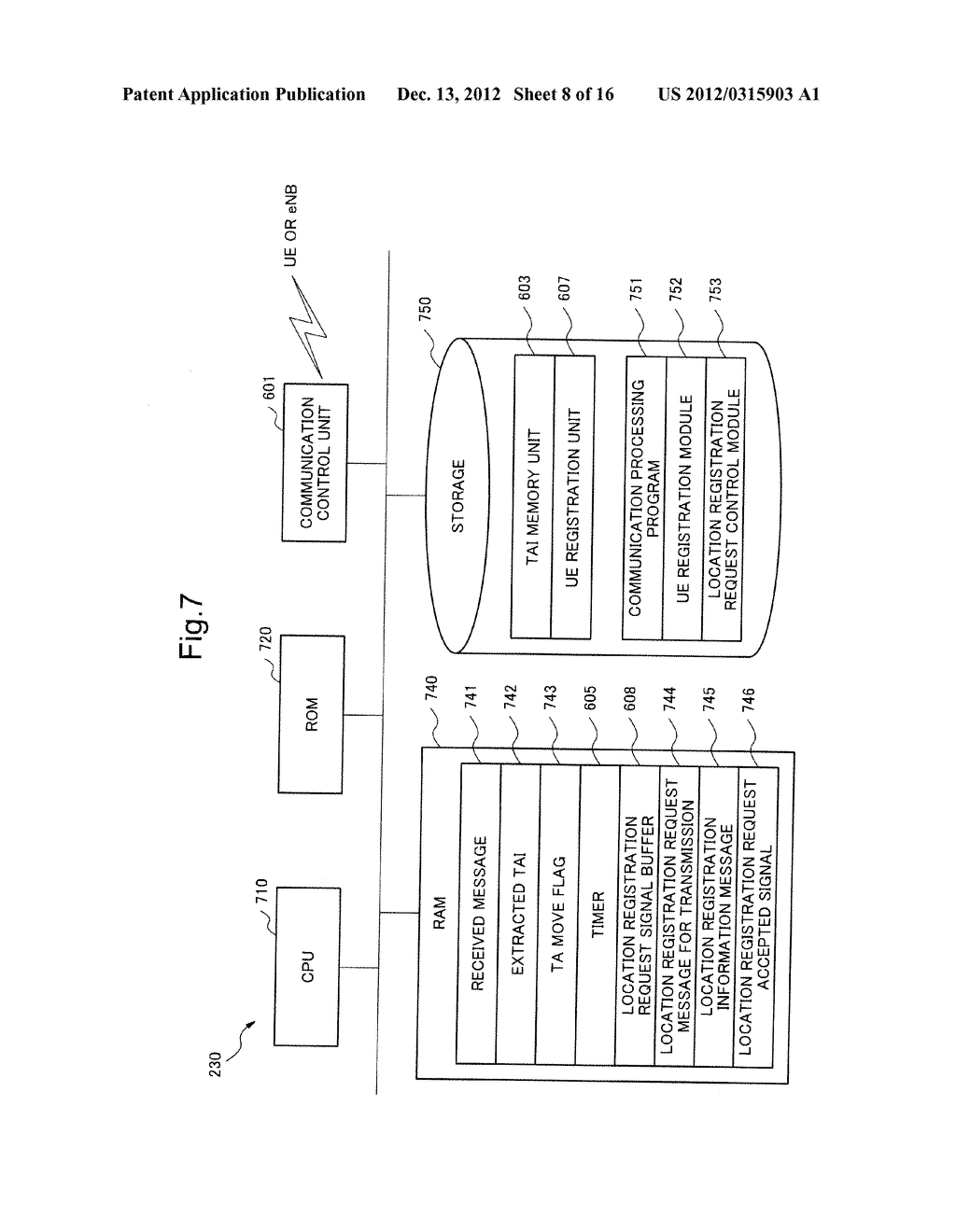 MOBILE COMMUNICATION SYSTEM, LOCATION REGISTRATION METHOD, RELAY NODE AND     CONTROL METHOD THEREOF, AND STORAGE MEDIUM OF CONTROL PROGRAM - diagram, schematic, and image 09