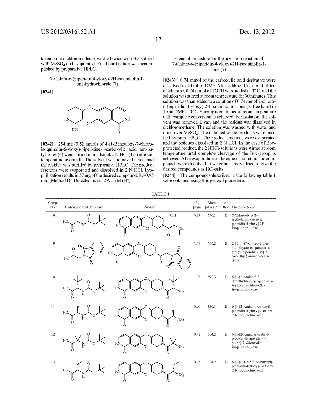 SUBSTITUTED ISOQUINOLINEAND ISOQUINOLINONE DERIVATIVES - diagram, schematic, and image 18