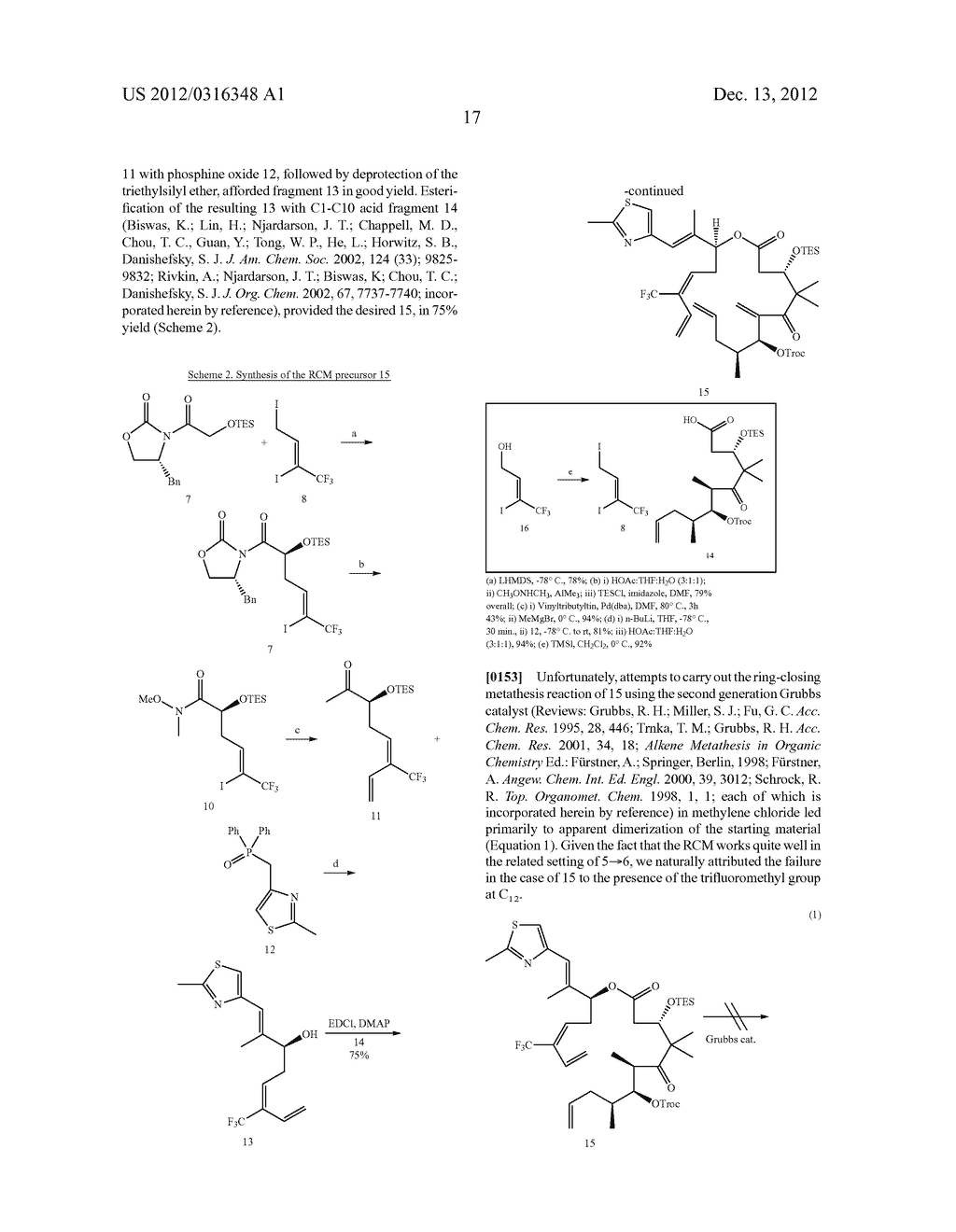 SYNTHESIS OF EPOTHILONES, INTERMEDIATES THERETO AND ANALOGUES THEREOF - diagram, schematic, and image 88