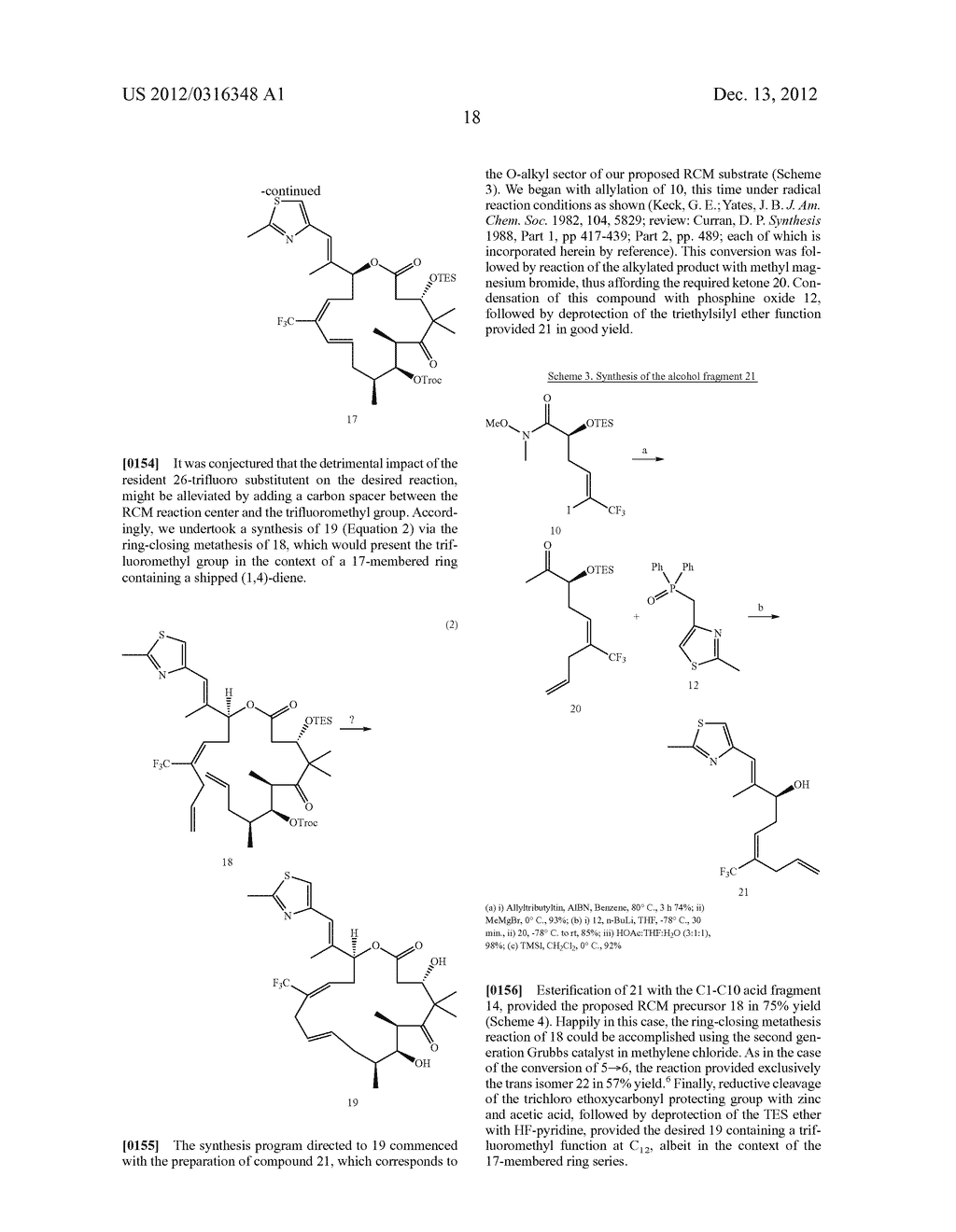 SYNTHESIS OF EPOTHILONES, INTERMEDIATES THERETO AND ANALOGUES THEREOF - diagram, schematic, and image 89