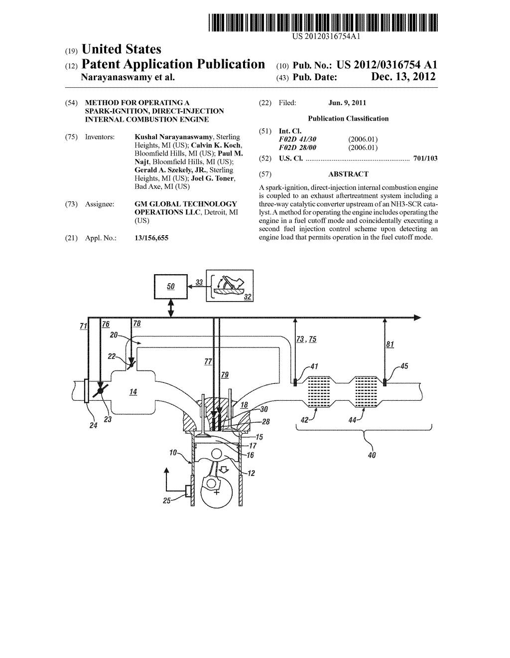 METHOD FOR OPERATING A SPARK-IGNITION, DIRECT-INJECTION INTERNAL     COMBUSTION ENGINE - diagram, schematic, and image 01