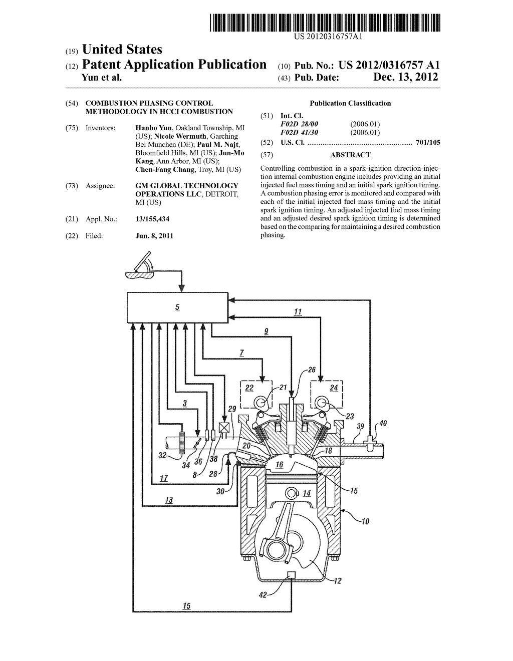 COMBUSTION PHASING CONTROL METHODOLOGY IN HCCI COMBUSTION - diagram, schematic, and image 01