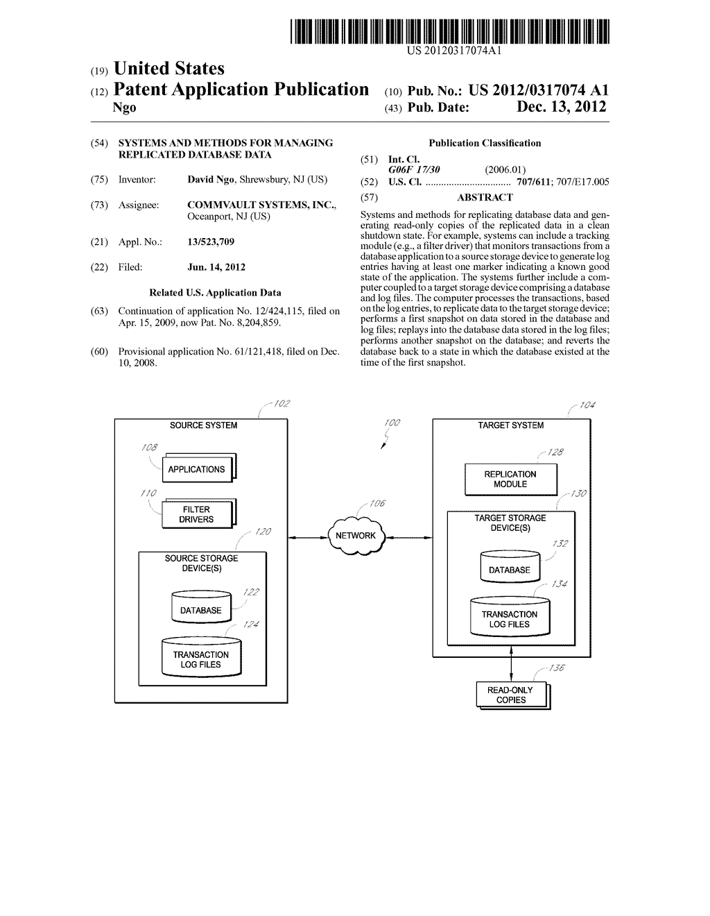 SYSTEMS AND METHODS FOR MANAGING REPLICATED DATABASE DATA - diagram, schematic, and image 01