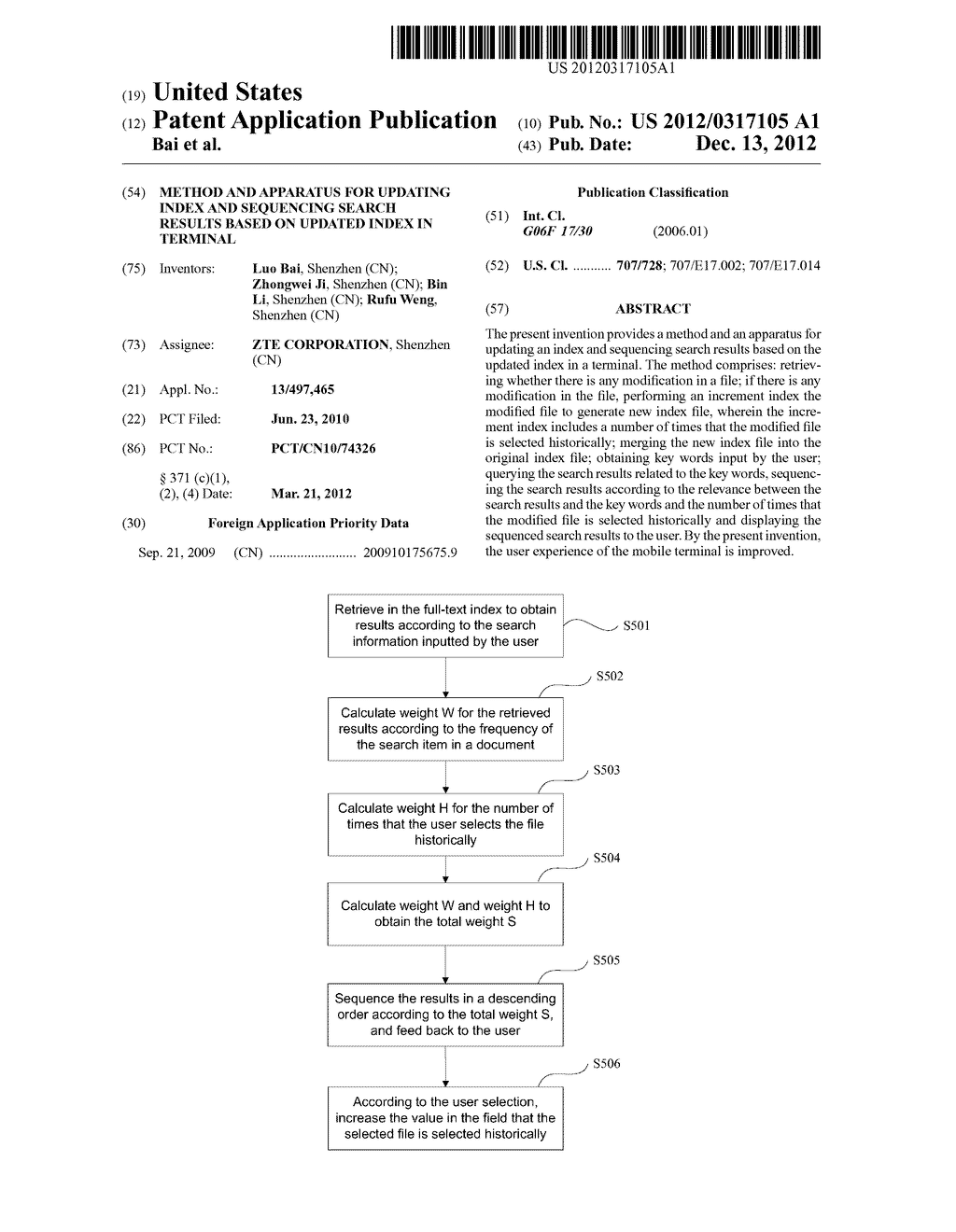 Method and Apparatus for Updating Index and Sequencing Search Results     Based on Updated Index in Terminal - diagram, schematic, and image 01