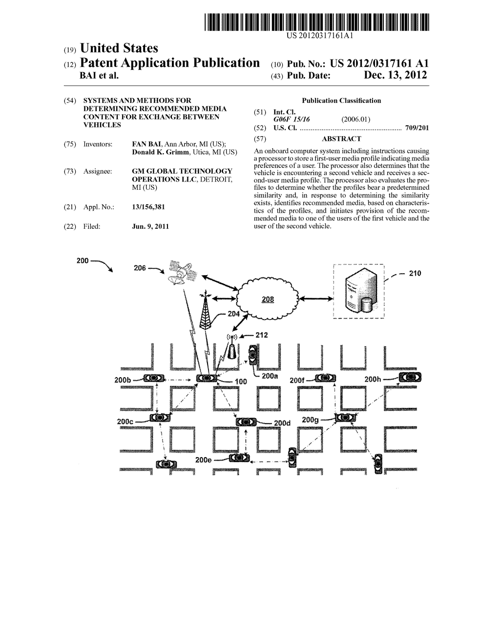 SYSTEMS AND METHODS FOR DETERMINING RECOMMENDED MEDIA CONTENT FOR EXCHANGE     BETWEEN VEHICLES - diagram, schematic, and image 01