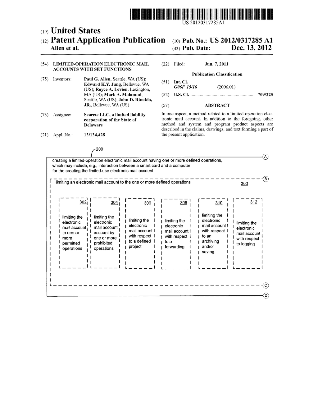 Limited-operation electronic mail accounts with set functions - diagram, schematic, and image 01