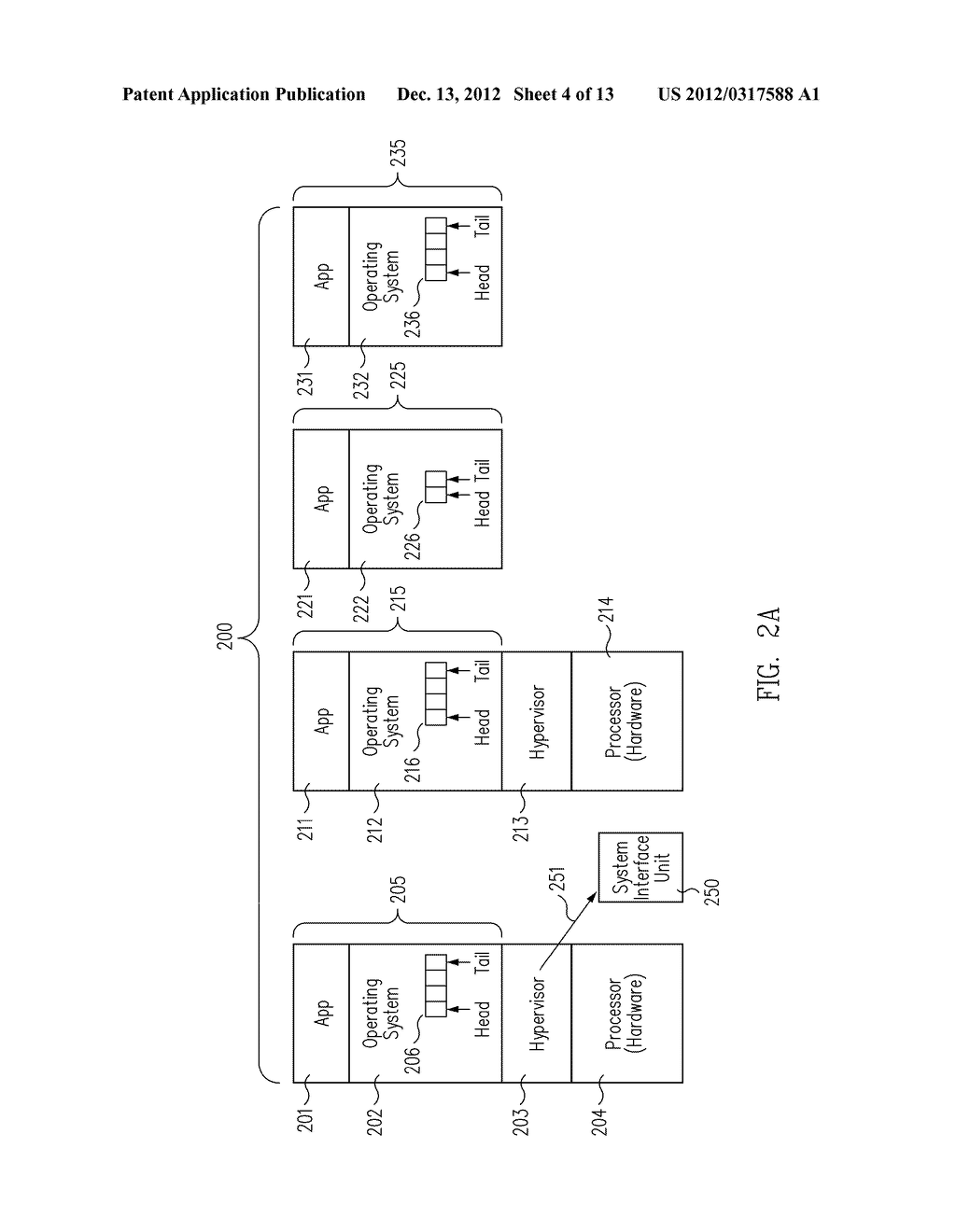 METHOD AND MESSAGE HANDLING HARDWARE STRUCTURE FOR VIRTUALIZATION AND     ISOLATION OF PARTITIONS - diagram, schematic, and image 05