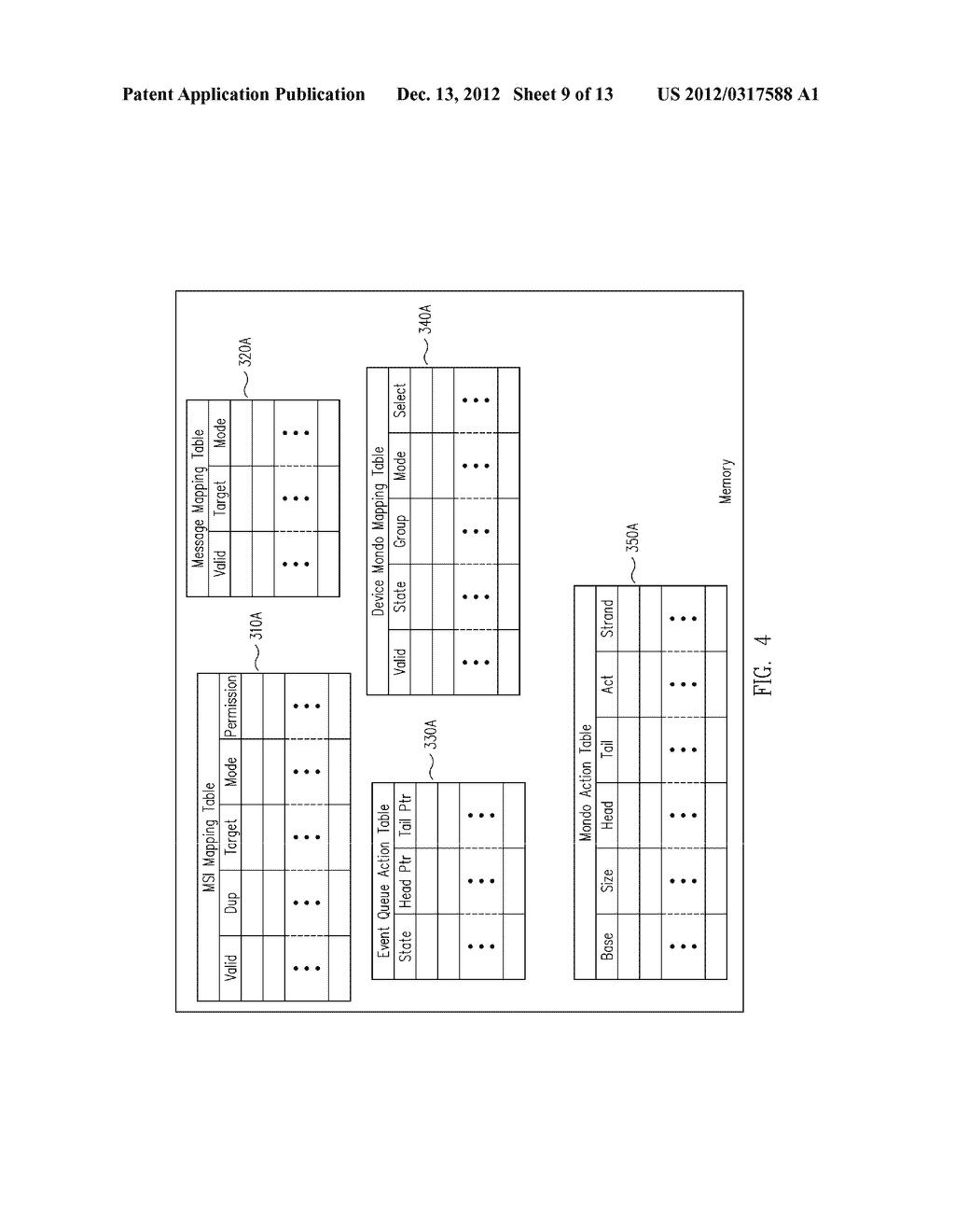METHOD AND MESSAGE HANDLING HARDWARE STRUCTURE FOR VIRTUALIZATION AND     ISOLATION OF PARTITIONS - diagram, schematic, and image 10