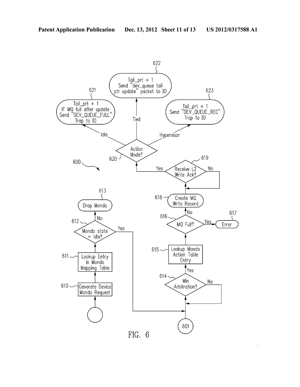 METHOD AND MESSAGE HANDLING HARDWARE STRUCTURE FOR VIRTUALIZATION AND     ISOLATION OF PARTITIONS - diagram, schematic, and image 12