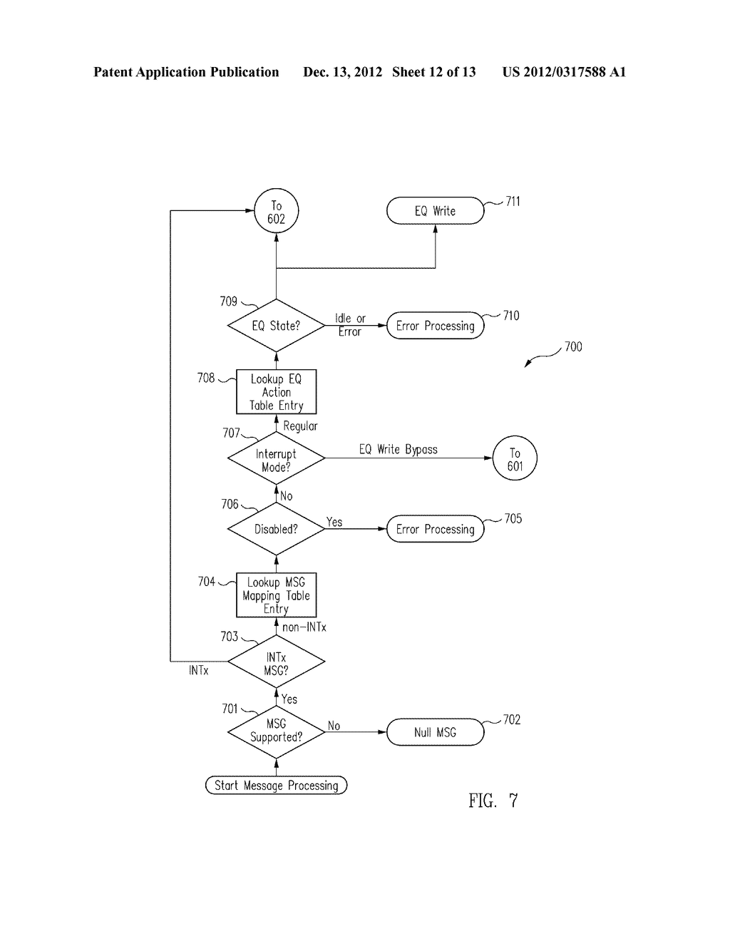 METHOD AND MESSAGE HANDLING HARDWARE STRUCTURE FOR VIRTUALIZATION AND     ISOLATION OF PARTITIONS - diagram, schematic, and image 13