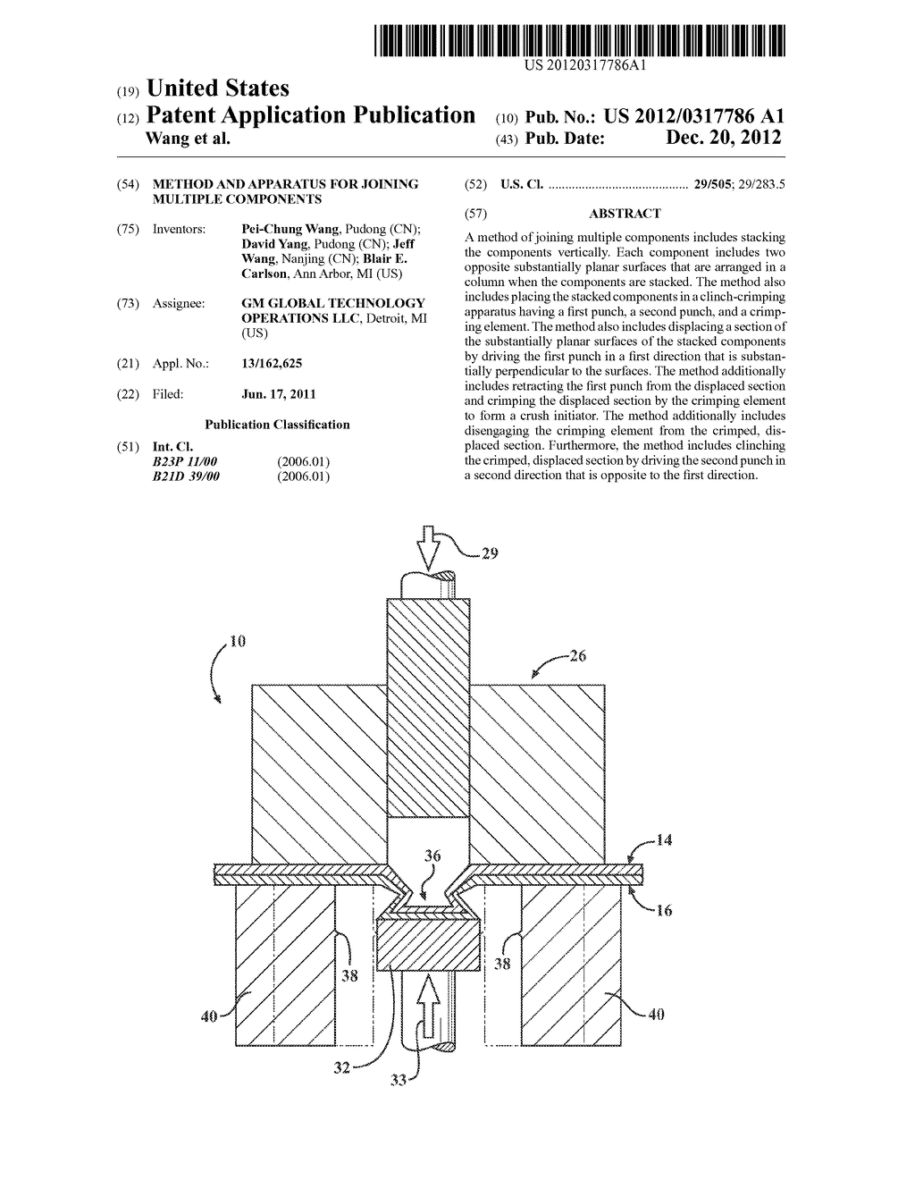 METHOD AND APPARATUS FOR JOINING MULTIPLE COMPONENTS - diagram, schematic, and image 01