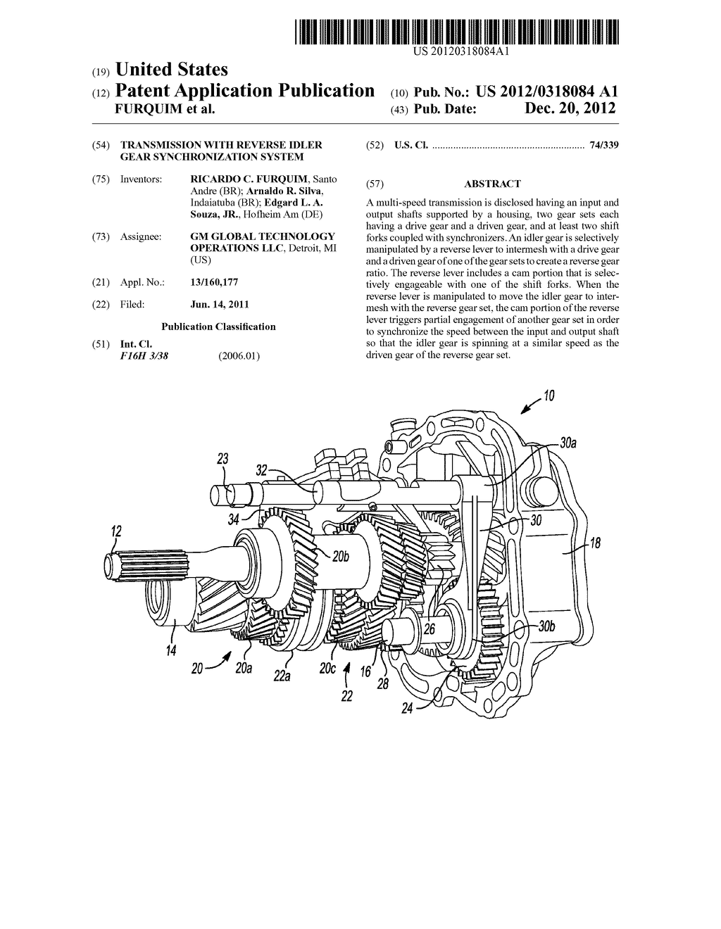 TRANSMISSION WITH REVERSE IDLER GEAR SYNCHRONIZATION SYSTEM - diagram, schematic, and image 01