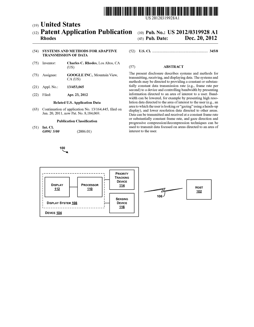 Systems and Methods for Adaptive Transmission of Data - diagram, schematic, and image 01