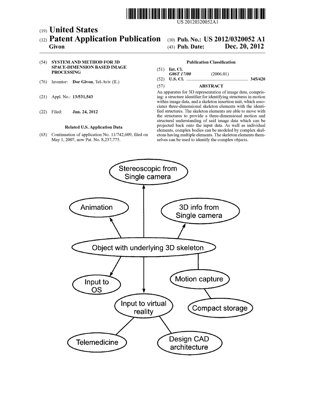 SYSTEM AND METHOD FOR 3D SPACE-DIMENSION BASED IMAGE PROCESSING - diagram, schematic, and image 01