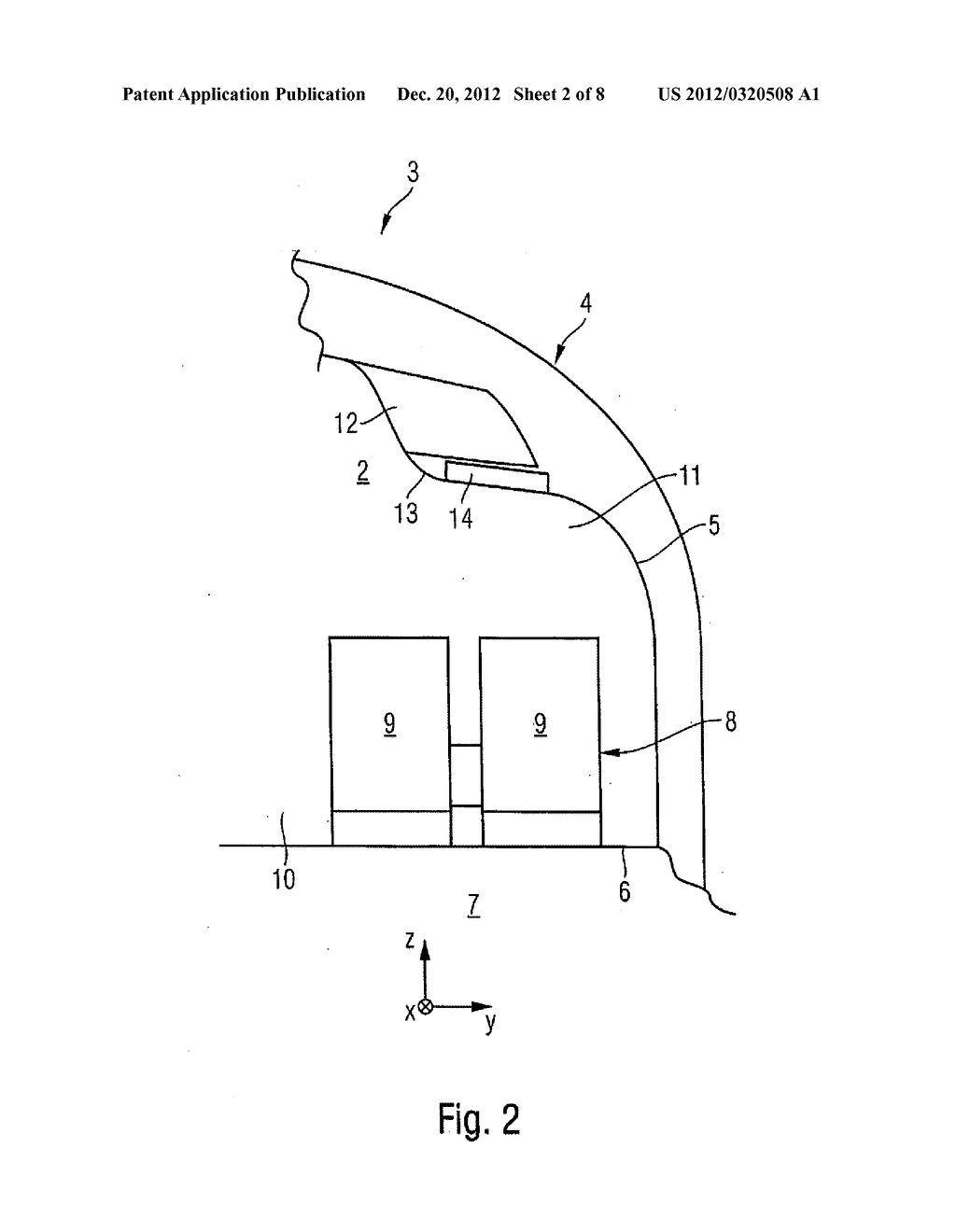 DISPLAY APPARATUS FOR A PASSENGER CABIN OF AN AIRCRAFT OR SPACECRAFT - diagram, schematic, and image 03