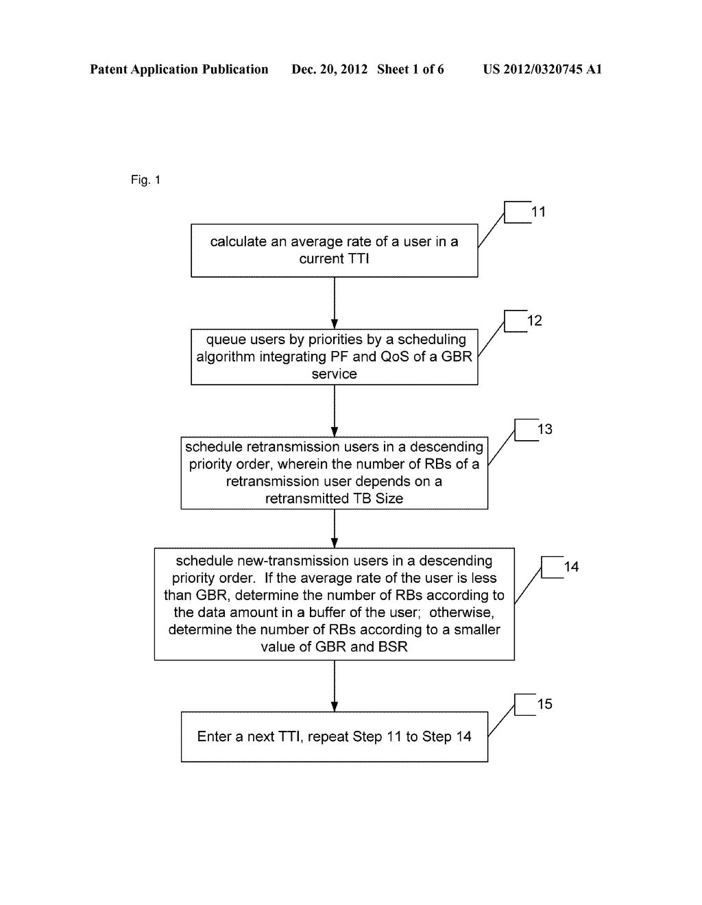 Method for scheduling guaranteed bit rate service based on quality of     service - diagram, schematic, and image 02