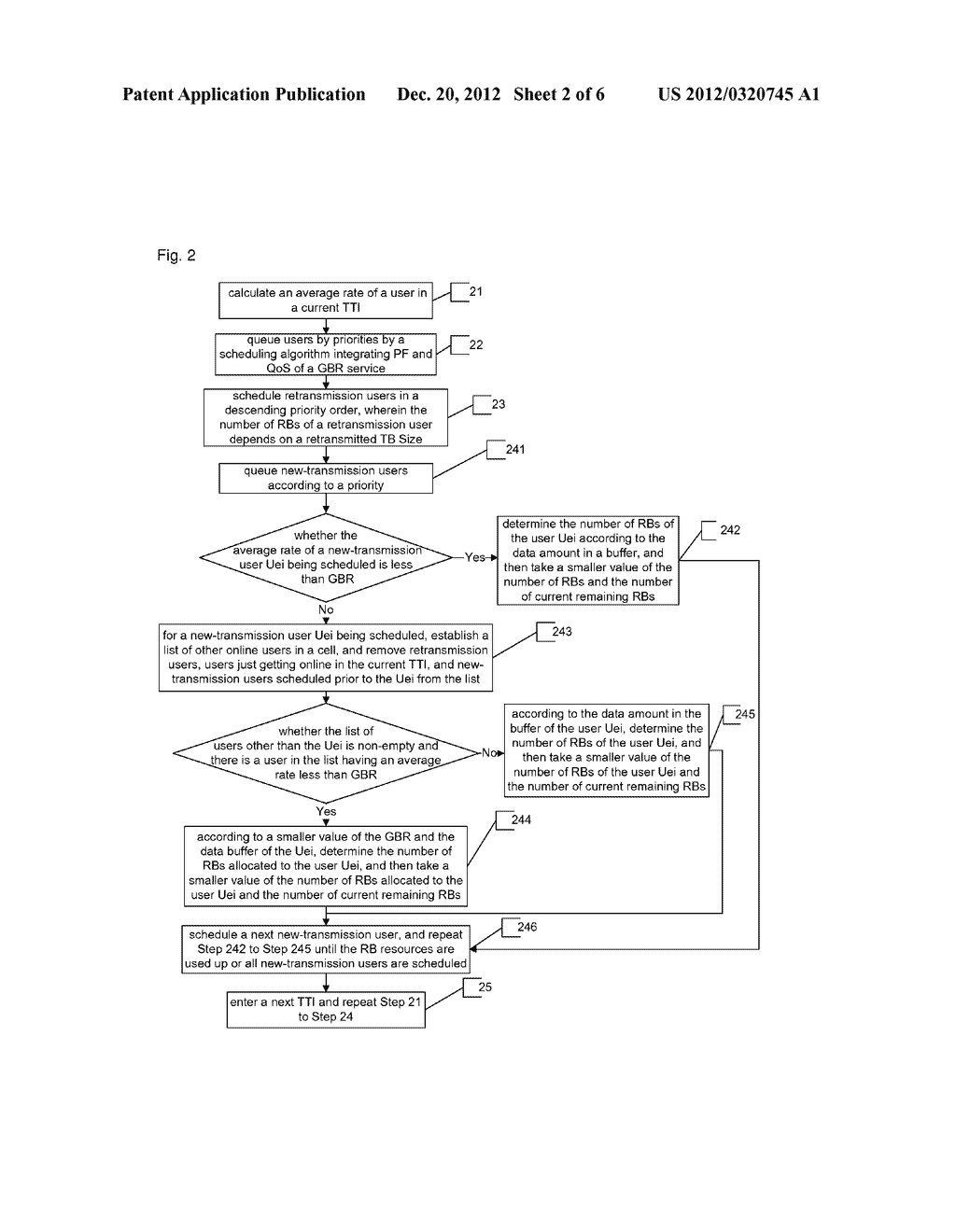 Method for scheduling guaranteed bit rate service based on quality of     service - diagram, schematic, and image 03