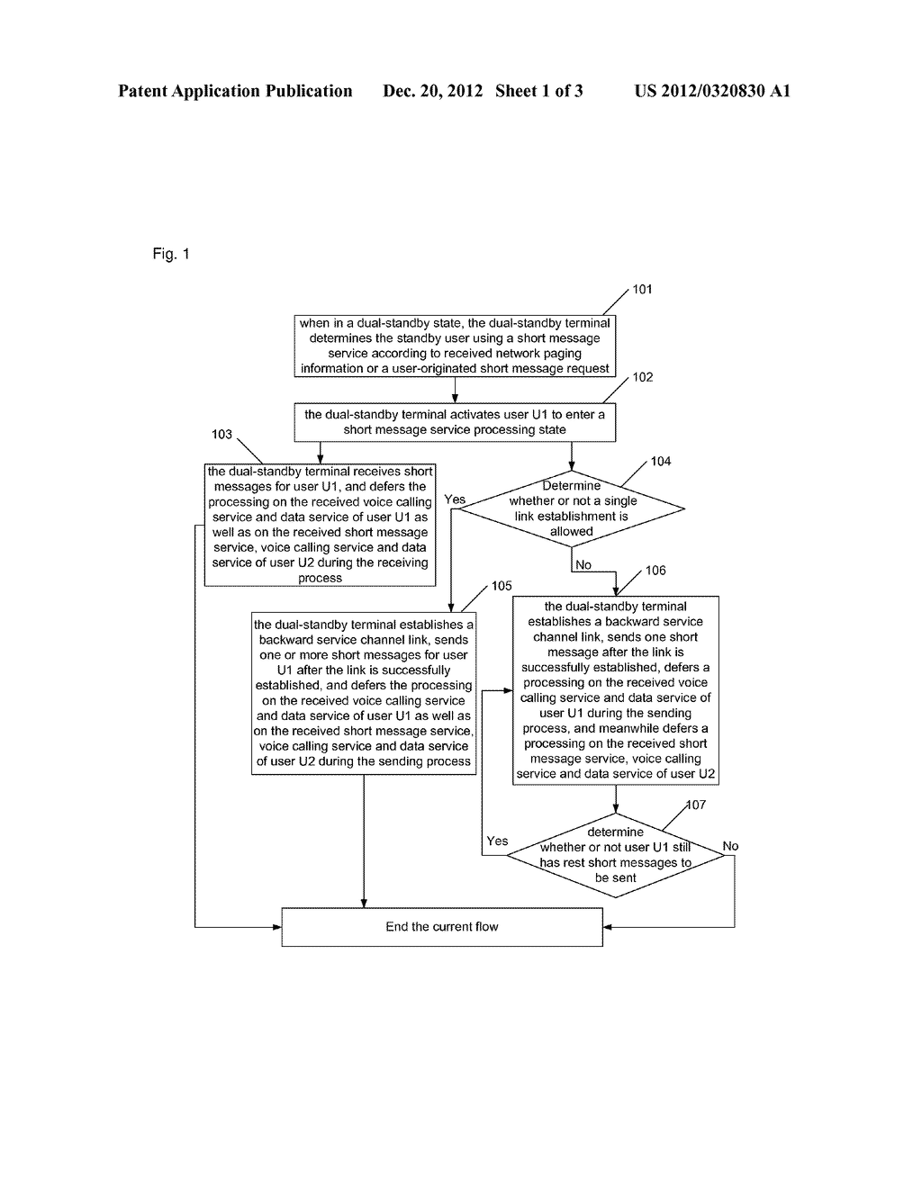 Method and apparatus for dispatching short messages In code division     multiple access single-mode dual-standby terminal - diagram, schematic, and image 02