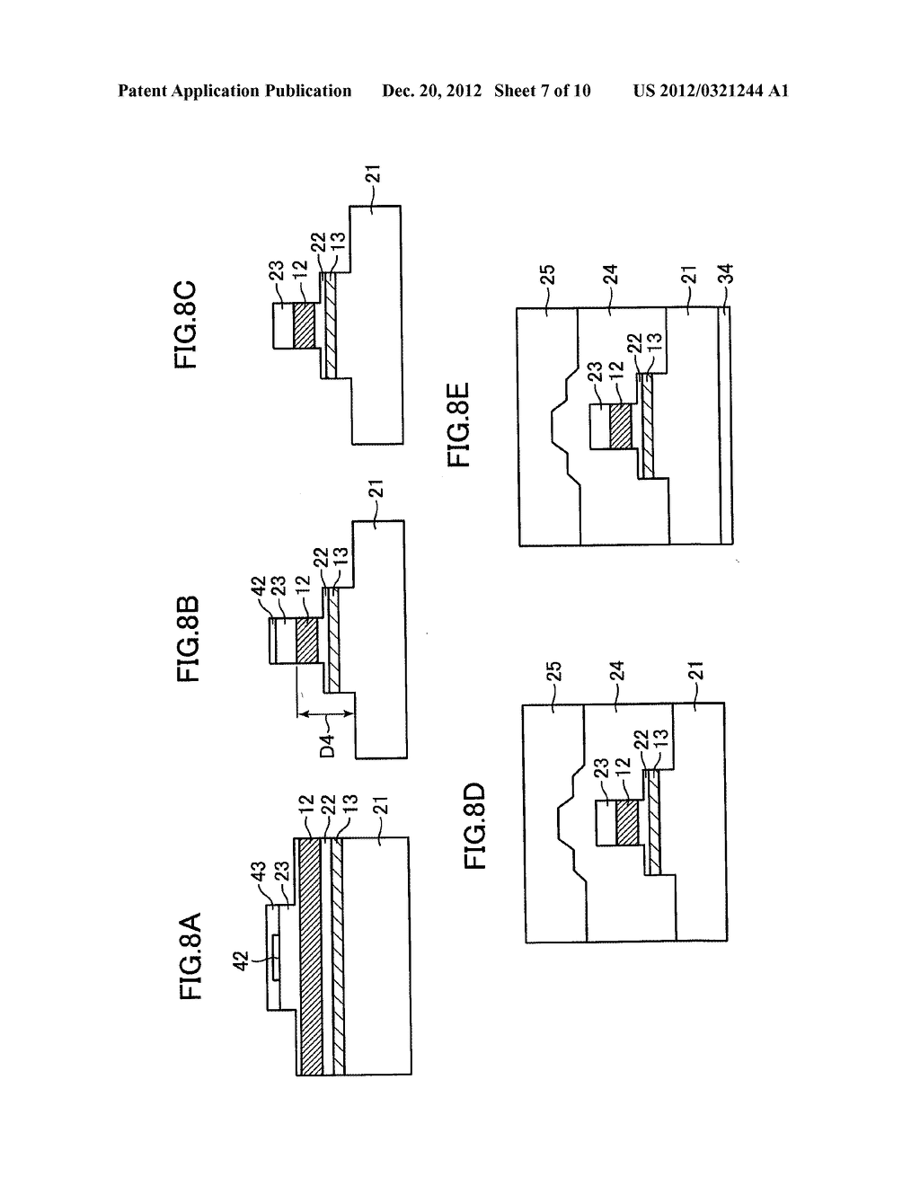 OPTICAL SEMICONDUCTOR DEVICE, AND MANUFACTURING METHOD THEREOF - diagram, schematic, and image 08