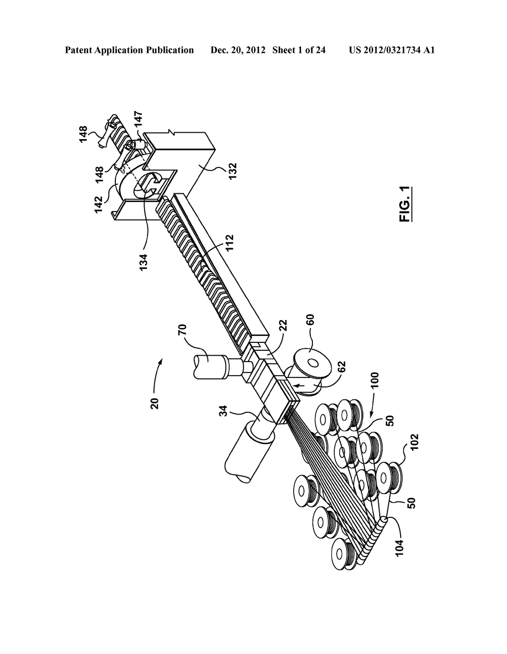 METHOD AND APPARATUS FOR EXTRUSION OF THERMOPLASTIC HANDRAIL - diagram, schematic, and image 02