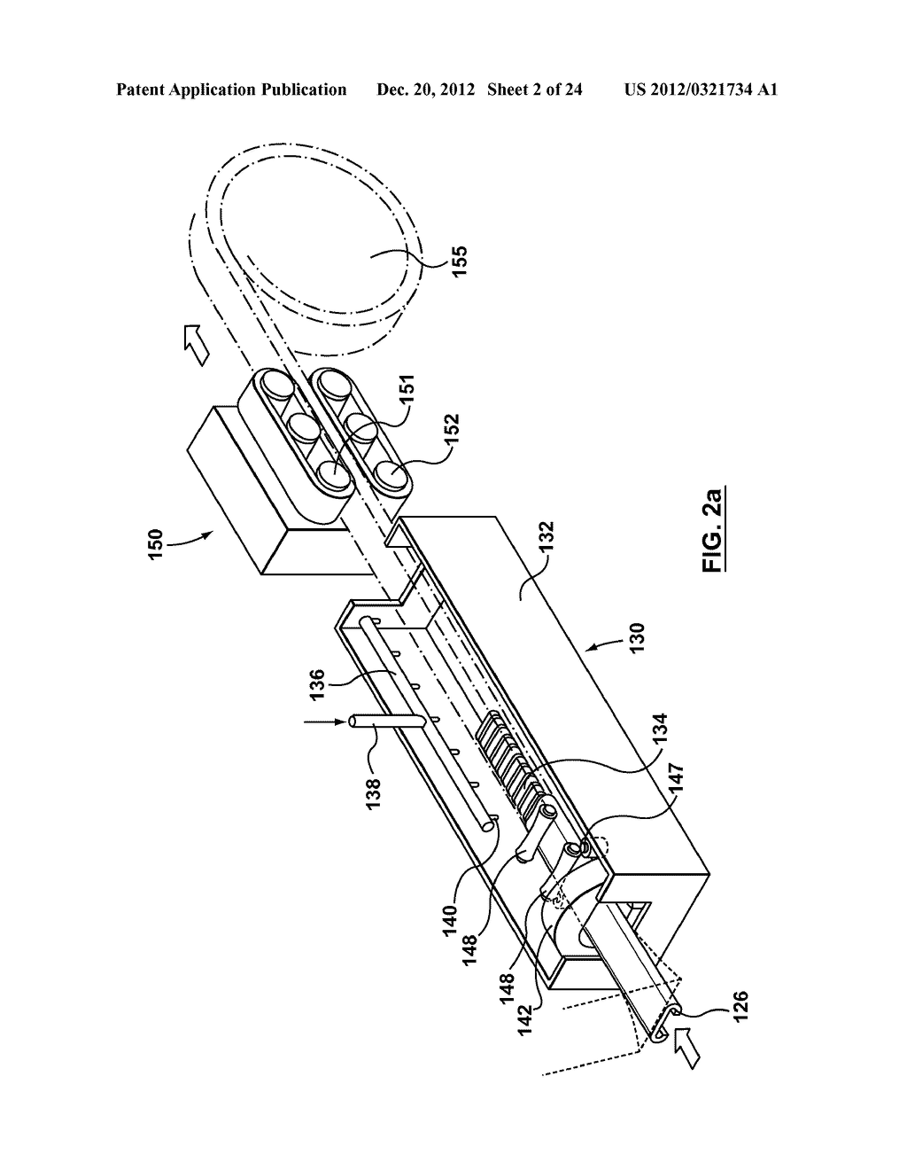 METHOD AND APPARATUS FOR EXTRUSION OF THERMOPLASTIC HANDRAIL - diagram, schematic, and image 03