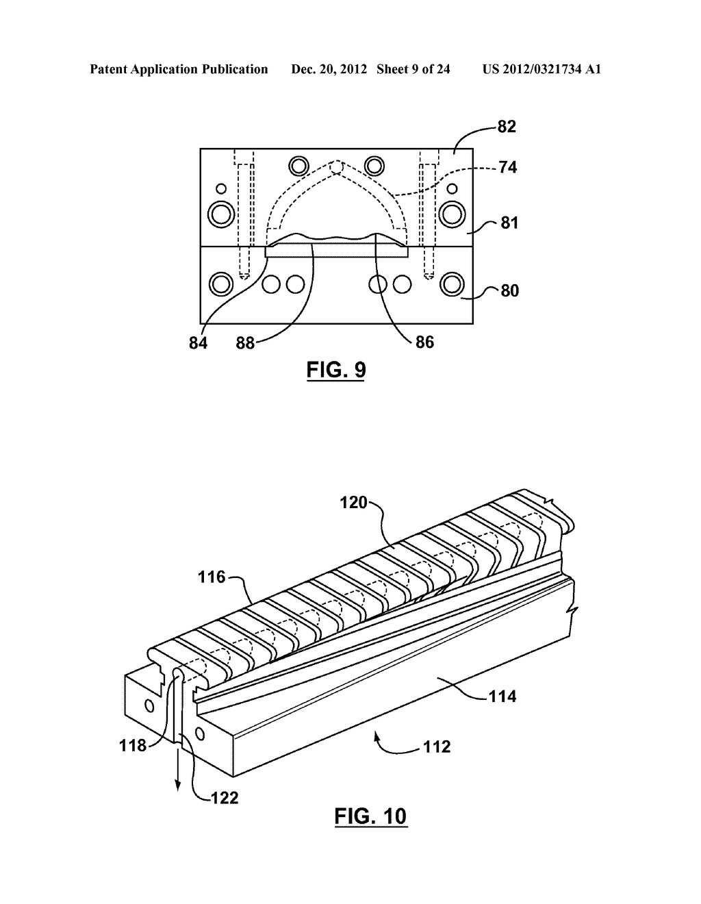 METHOD AND APPARATUS FOR EXTRUSION OF THERMOPLASTIC HANDRAIL - diagram, schematic, and image 10