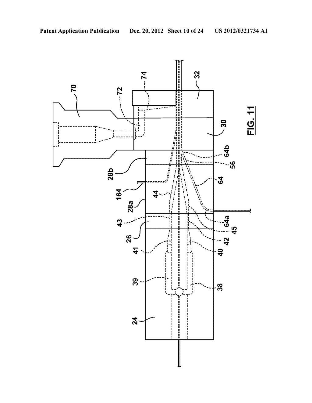 METHOD AND APPARATUS FOR EXTRUSION OF THERMOPLASTIC HANDRAIL - diagram, schematic, and image 11