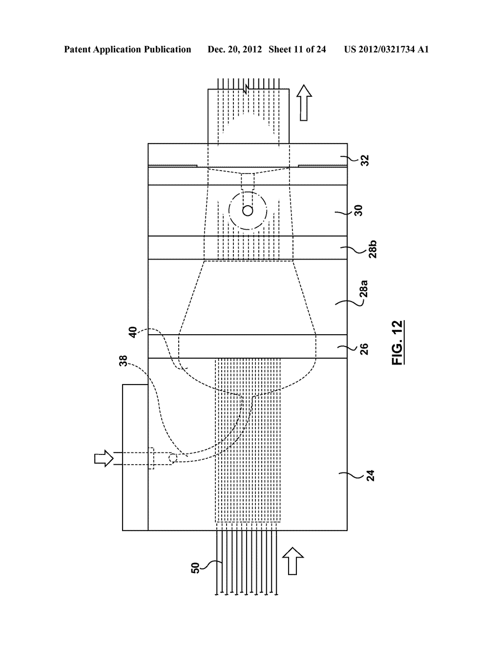 METHOD AND APPARATUS FOR EXTRUSION OF THERMOPLASTIC HANDRAIL - diagram, schematic, and image 12