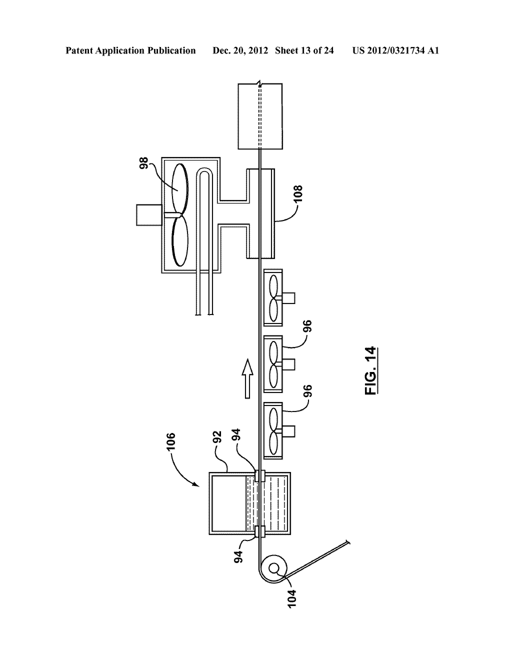 METHOD AND APPARATUS FOR EXTRUSION OF THERMOPLASTIC HANDRAIL - diagram, schematic, and image 14