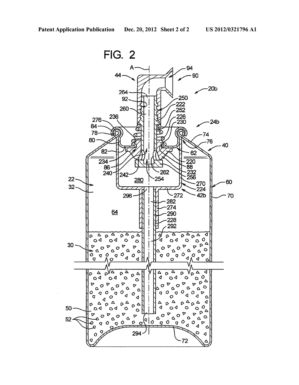 Aerosol Spray Texture Apparatus for a Particulate Containing Material - diagram, schematic, and image 03