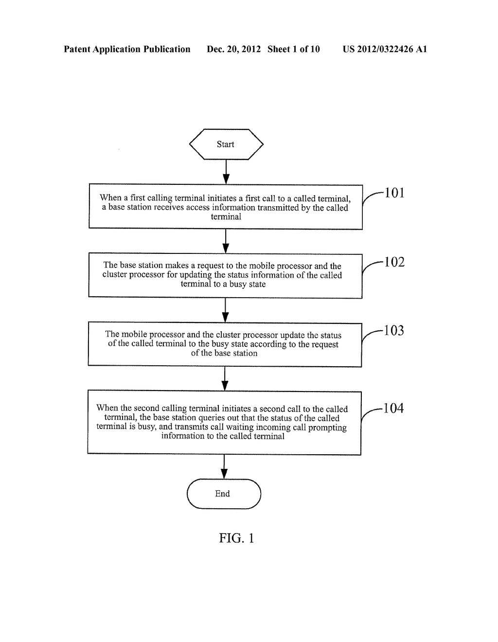 METHOD, SYSTEM AND BASE STATION FOR IMPLEMENTING COMPATIBILITY BETWEEN     MOBILE CALL WAITING AND CLUSTER CALL WAITING - diagram, schematic, and image 02
