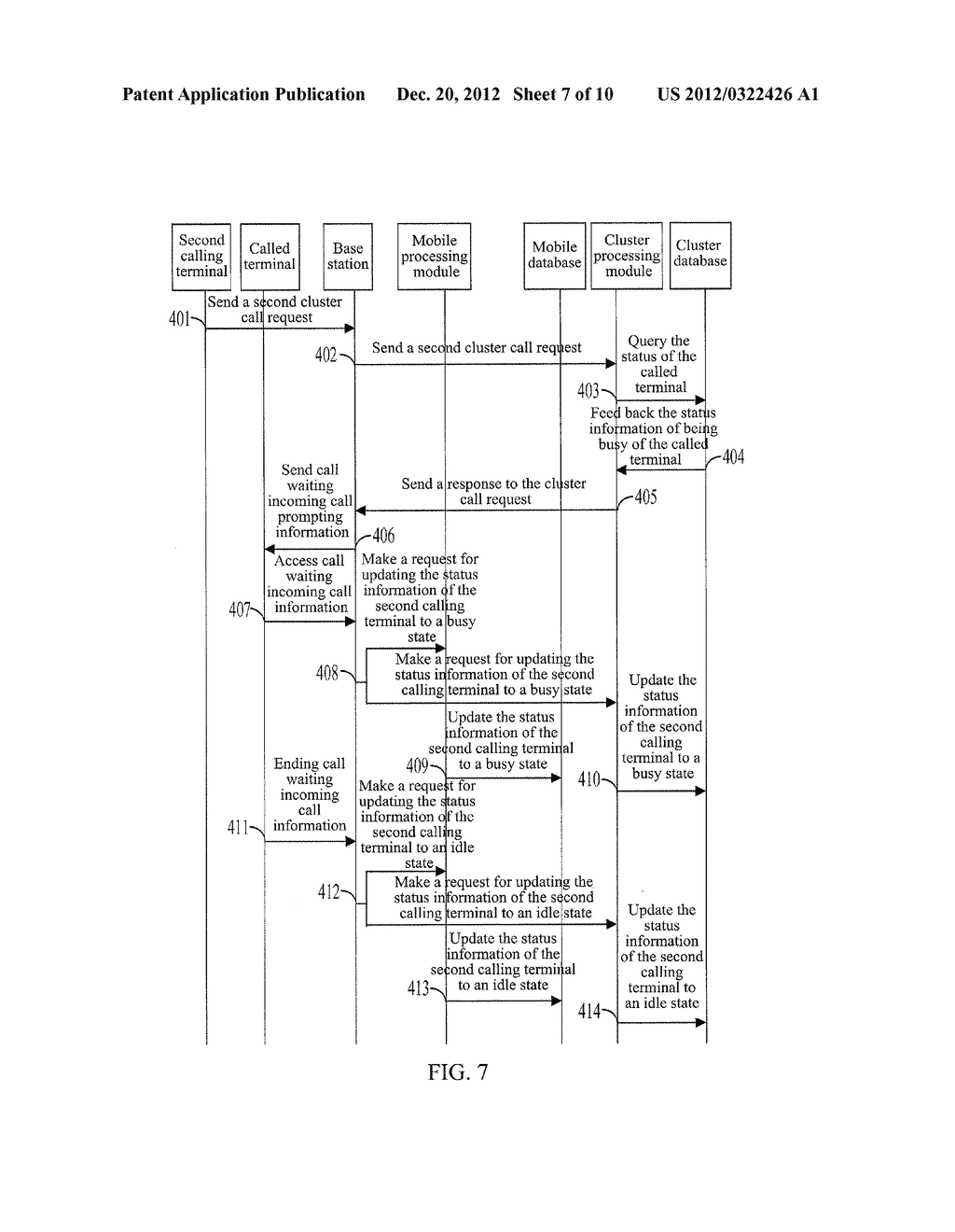 METHOD, SYSTEM AND BASE STATION FOR IMPLEMENTING COMPATIBILITY BETWEEN     MOBILE CALL WAITING AND CLUSTER CALL WAITING - diagram, schematic, and image 08