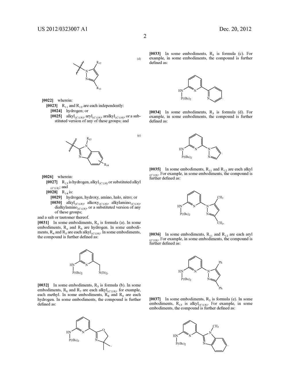 PHOSPHO-AMINO PINCER-TYPE LIGANDS AND CATALYTIC METAL COMPLEXES THEREOF - diagram, schematic, and image 10