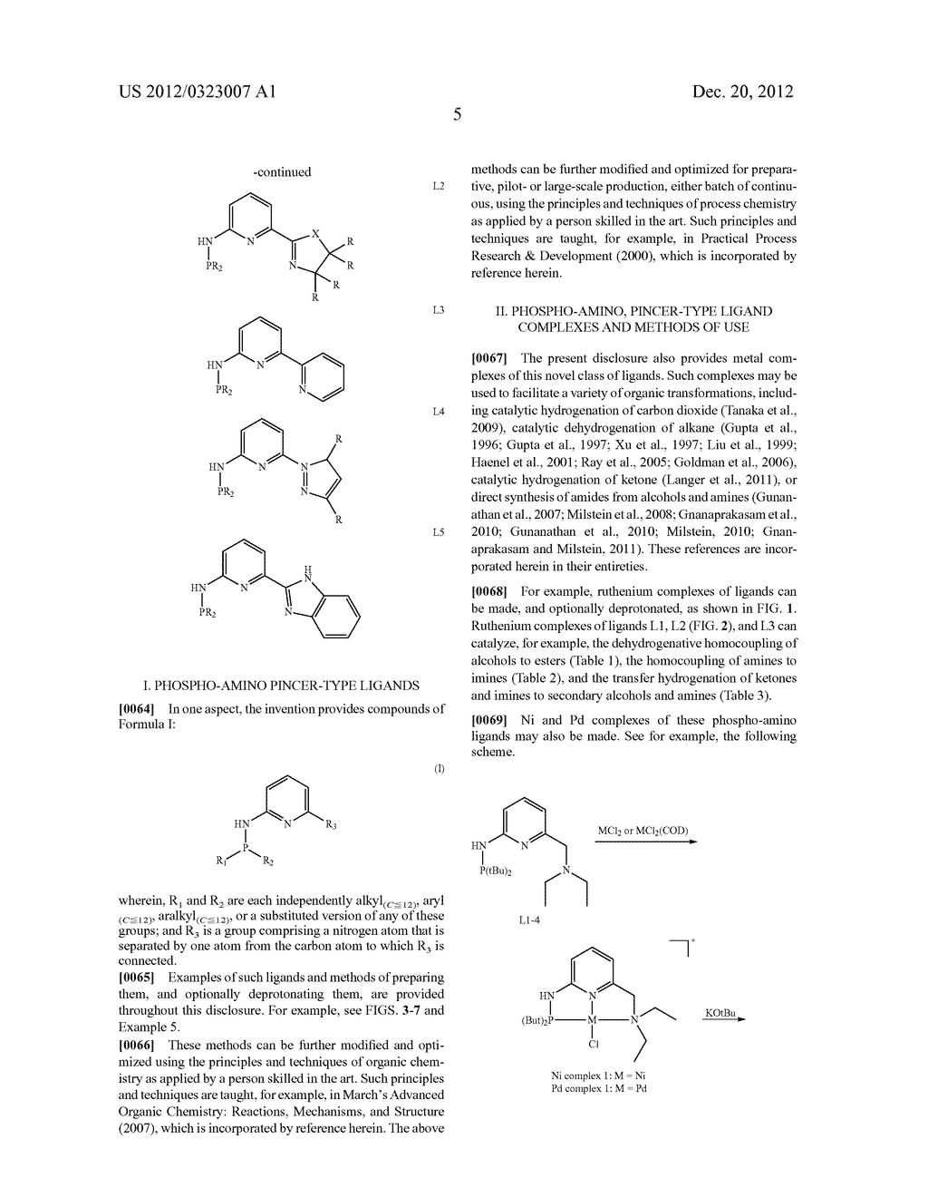 PHOSPHO-AMINO PINCER-TYPE LIGANDS AND CATALYTIC METAL COMPLEXES THEREOF - diagram, schematic, and image 13