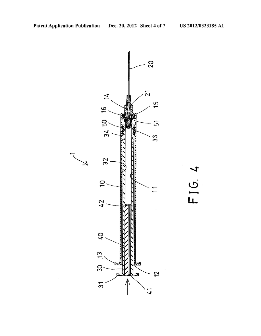 Automatic retractable safety syringe - diagram, schematic, and image 05